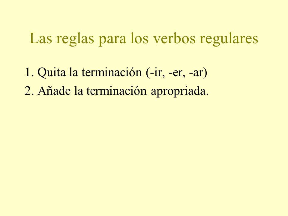 El pretérito de los verbos regulares El pasado…