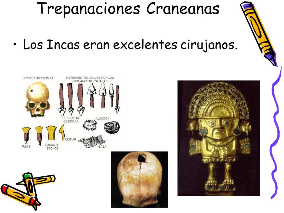 Trepanaciones Craneanas Los Incas eran excelentes cirujanos.