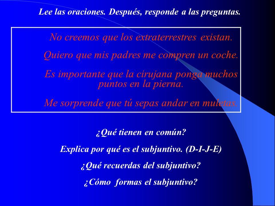 33 Noun Clauses (Las Cláusulas Sustantivales)