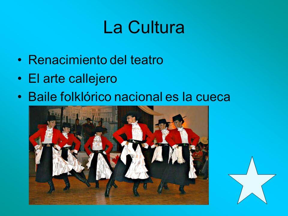La Cultura Renacimiento del teatro El arte callejero Baile folklórico nacional es la cueca