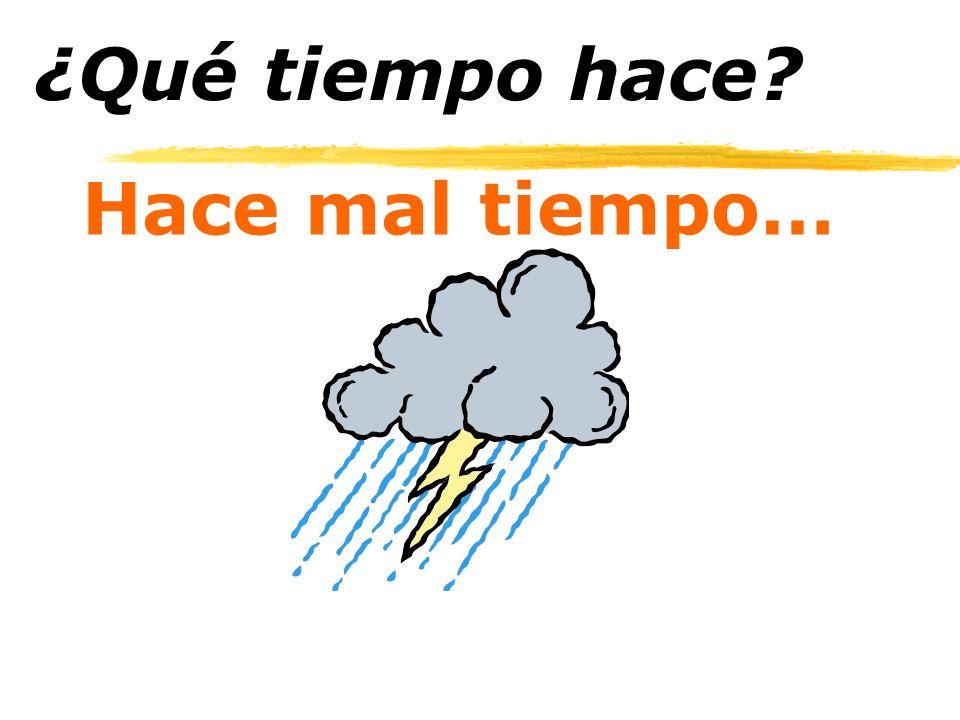 Hace mal tiempo… ¿Qué tiempo hace?