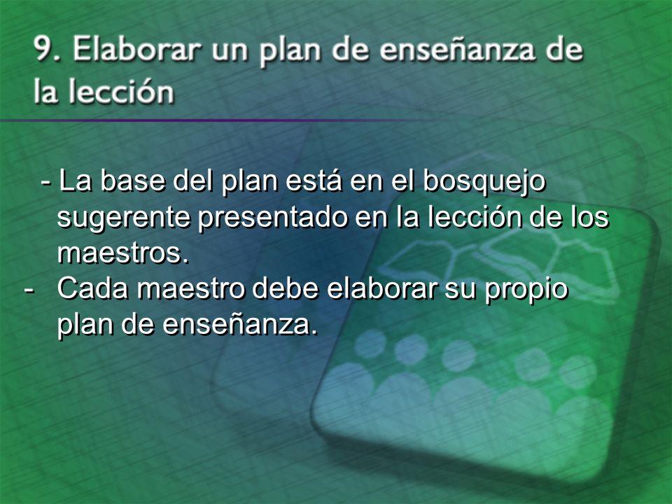 El plan de enseñanza de la lección - ¿Qué es un plan de enseñanza.