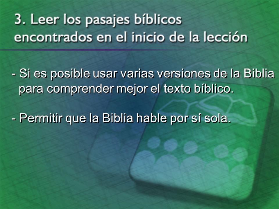 - Al escudriñar las Escrituras, no debéis procurar interpretar sus declaraciones de tal manera que concuerden con vuestras ideas preconcebidas...