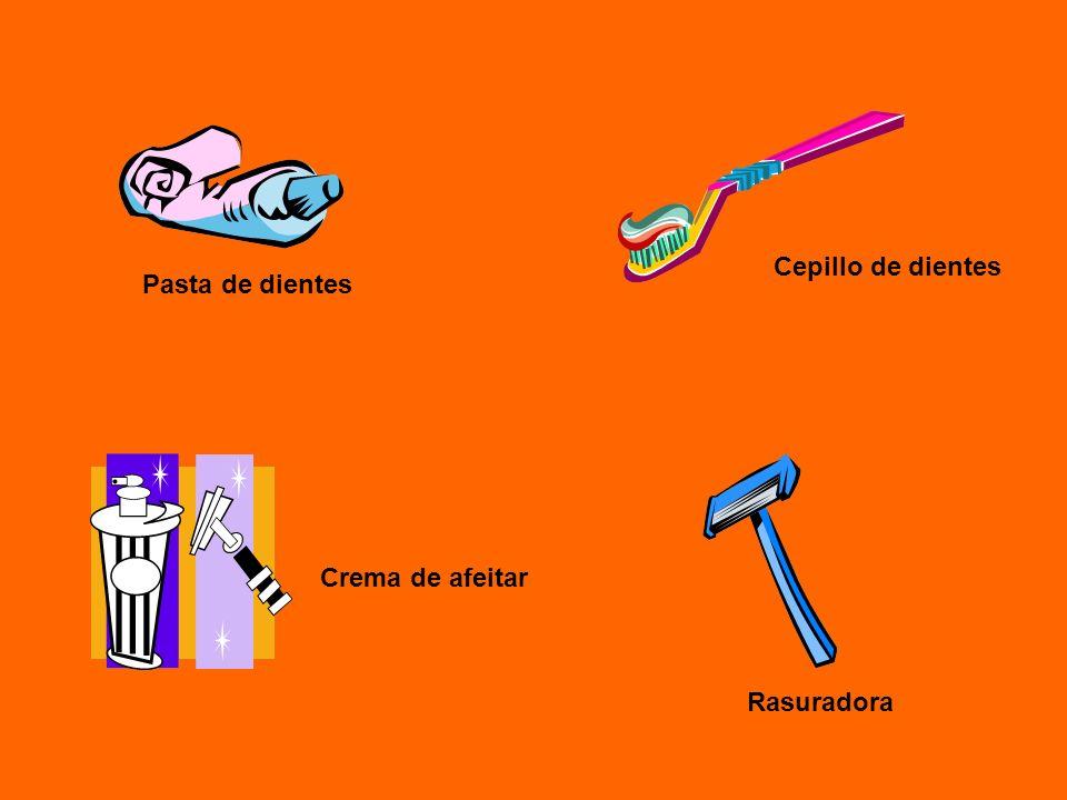 Pasta de dientes Cepillo de dientes Crema de afeitar Rasuradora