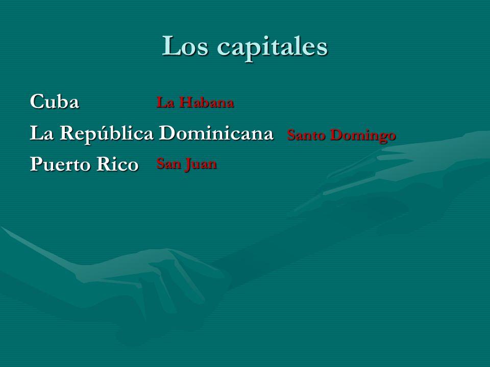 Los capitales MéxicoGuatemala El Salvador HondurasNicaragua Costa Rica Panamá La ciudad de México La ciudad de Guatemala San Salvador La ciudad de Pan