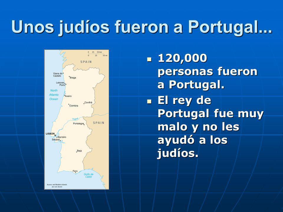 La situación en Portugal Los judíos pagaron 1 ducat por cada persona que cruzó la frontera.