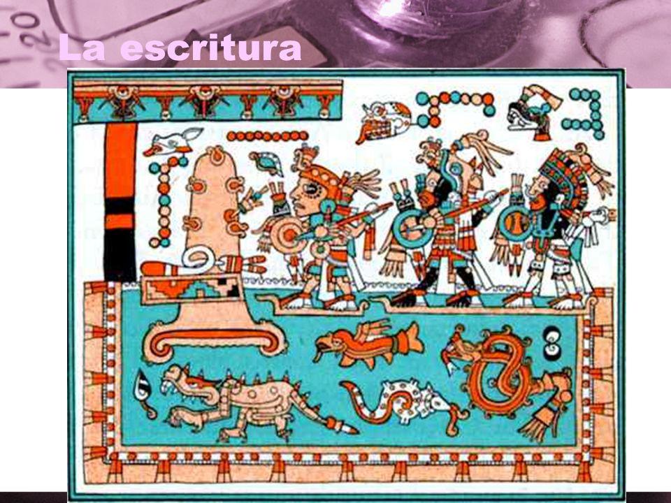 La escritura ¿Qué ves en este dibujo de los aztecas?
