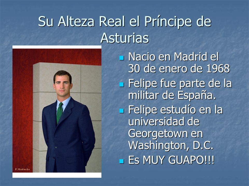 Su Alteza Real el Príncipe de Asturias Nacio en Madrid el 30 de enero de 1968 Nacio en Madrid el 30 de enero de 1968 Felipe fue parte de la militar de