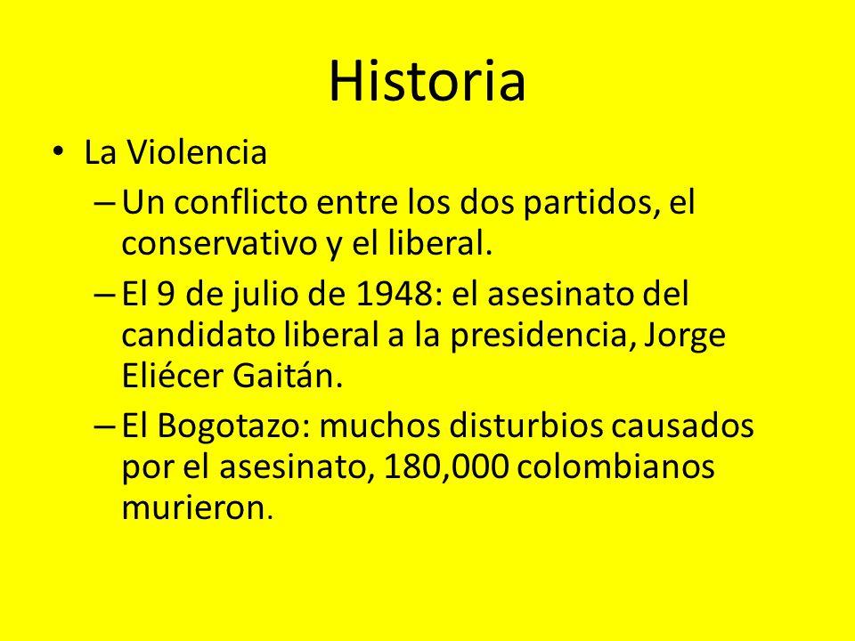 Historia La Violencia – Un conflicto entre los dos partidos, el conservativo y el liberal. – El 9 de julio de 1948: el asesinato del candidato liberal