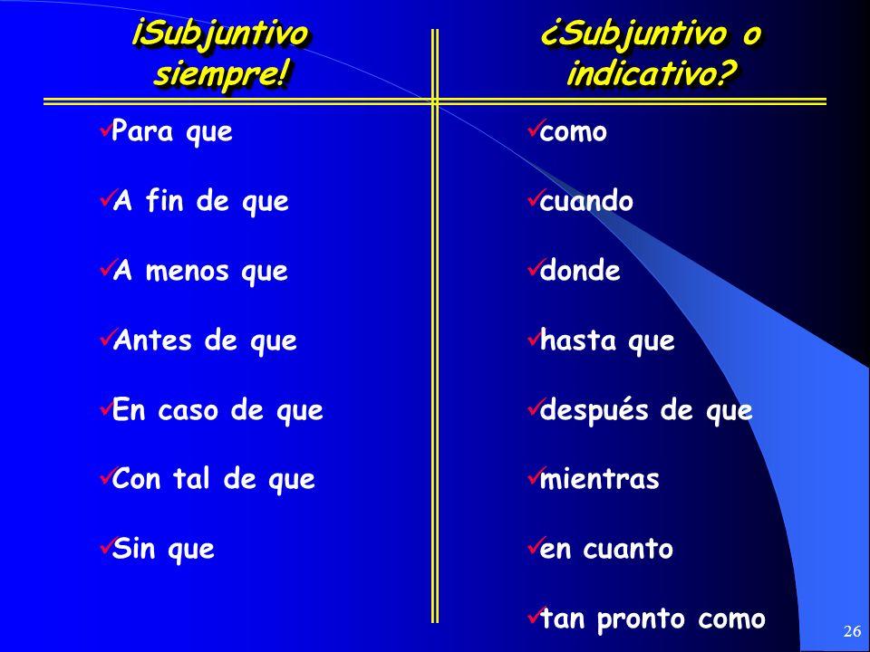 25 Adverb Clauses (Las Cláusulas Adverbiales)