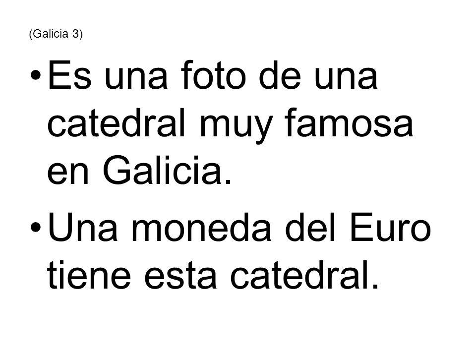(Galicia 3) Es una foto de una catedral muy famosa en Galicia. Una moneda del Euro tiene esta catedral.