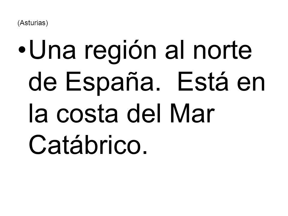 (Asturias) Una región al norte de España. Está en la costa del Mar Catábrico.