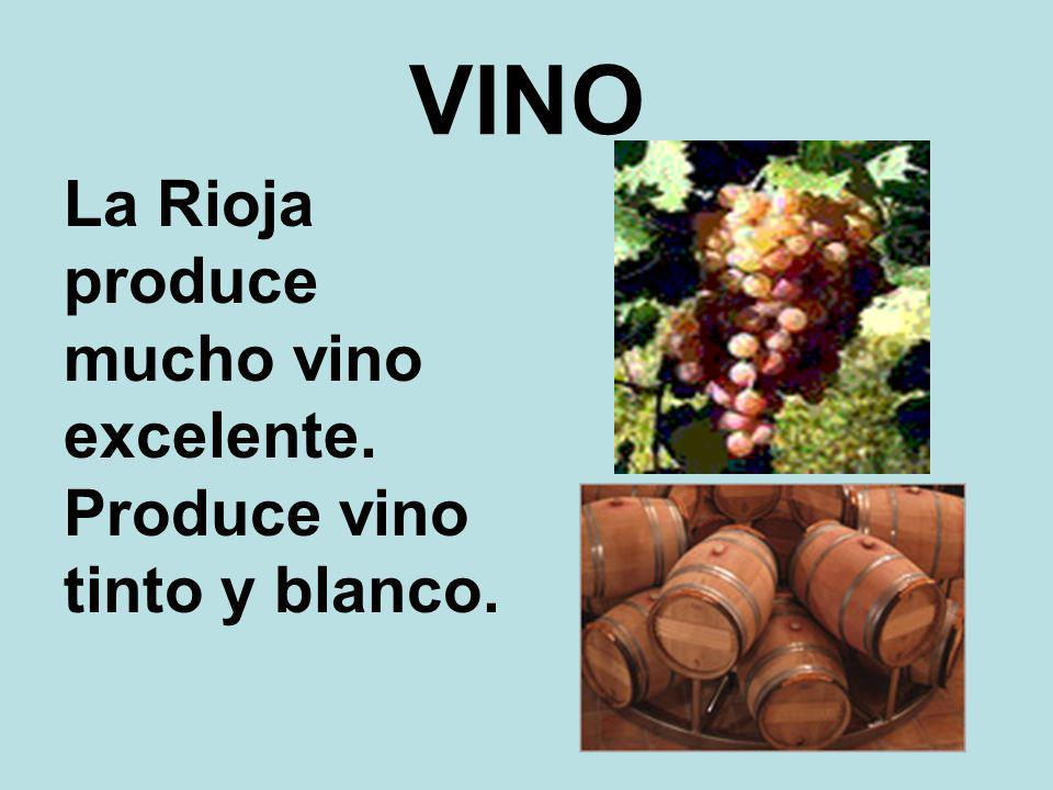 VINO La Rioja produce mucho vino excelente. Produce vino tinto y blanco.