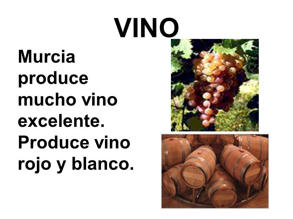VINO Murcia produce mucho vino excelente. Produce vino rojo y blanco.