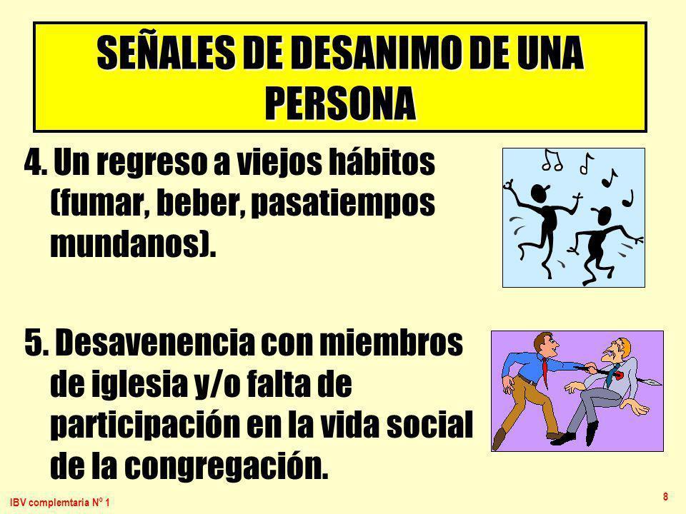 IBV complemtaria Nº 1 9 SEÑALES DE DESANIMO DE UNA PERSONA 6.