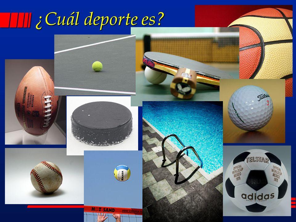 ¿Cuál deporte es?