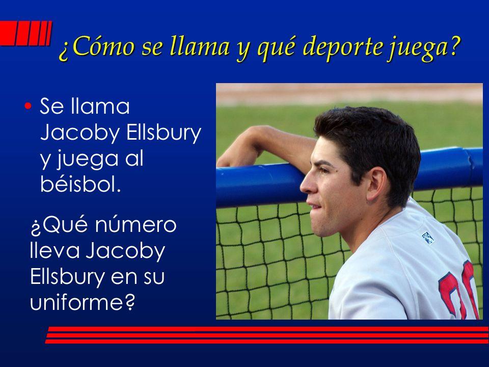 ¿Cómo se llama y qué deporte juega? Se llama Jacoby Ellsbury y juega al béisbol. ¿Qué número lleva Jacoby Ellsbury en su uniforme?