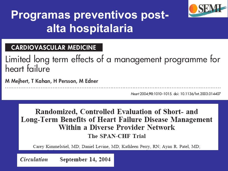 Programas preventivos post- alta hospitalaria