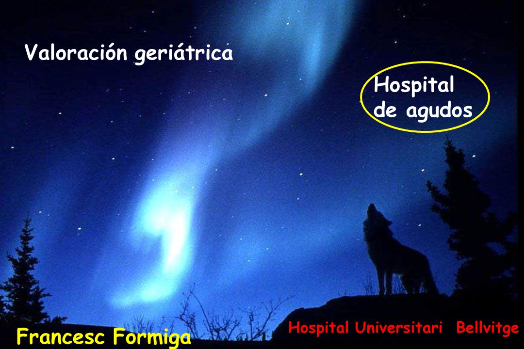 ¿Valoración geriátrica hospital de agudos? ¿Calidad asistencial en anciano frágil?: SI, sin dudas