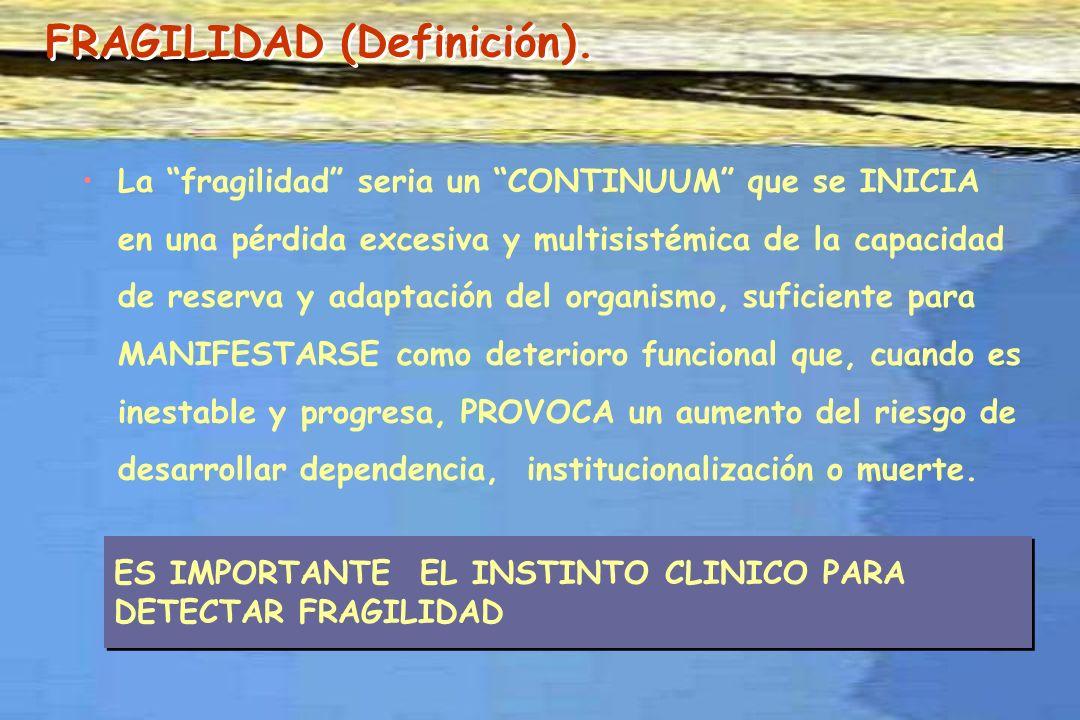 BASICO evitar en lo posible la aparición de síndromes geriátricos y aprender su manejo por si se presentan: -INMOVILIDAD, -DELIRIUM, -ULCERAS DECUBITO, -ESTREÑIMIENTO.