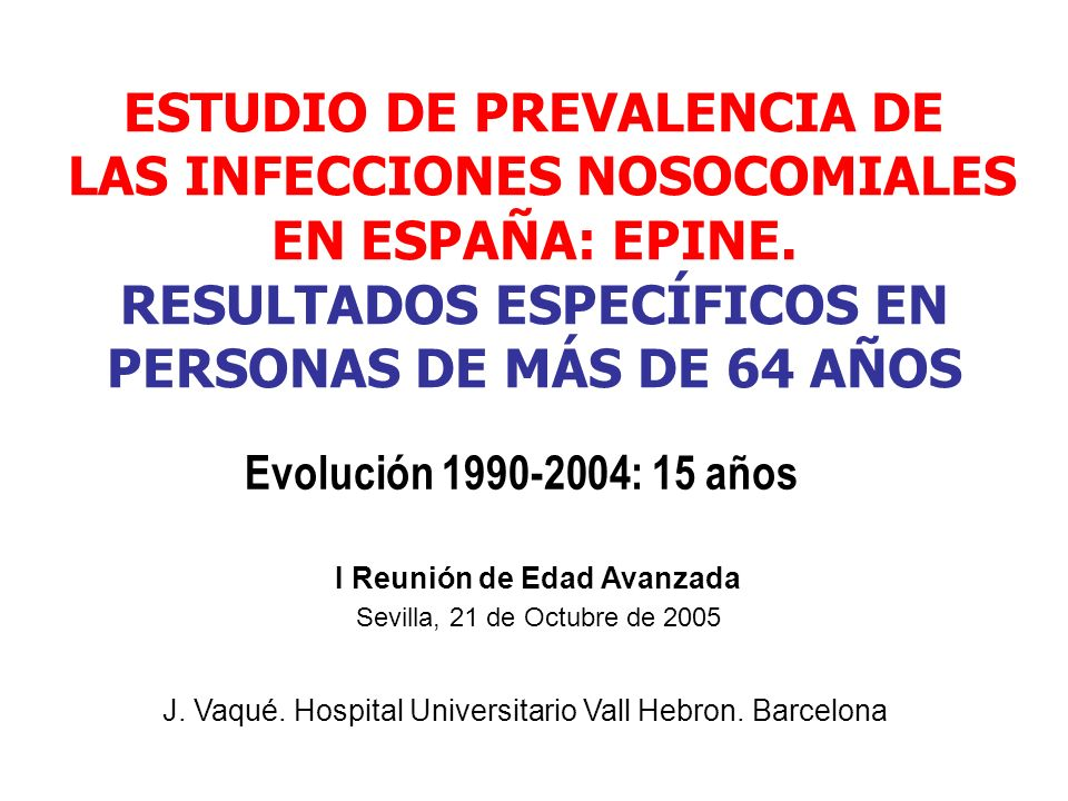 199019911992199319941995199619971998199920002001200220032004 5 10 15 20 25 30 35 40 Porcentaje sobre el total del año % UrinariasQuirúrgicasRespiratoriasBacteriemiasOtras LOCALIZACIÓN DE LAS INFECCIONES NOSOCOMIALES RECTA AJUSTADA A LOS DATOS.