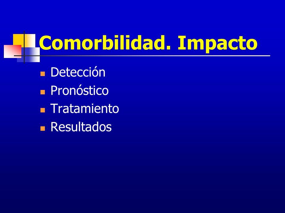 Comorbilidad. Impacto Detección Pronóstico Tratamiento Resultados