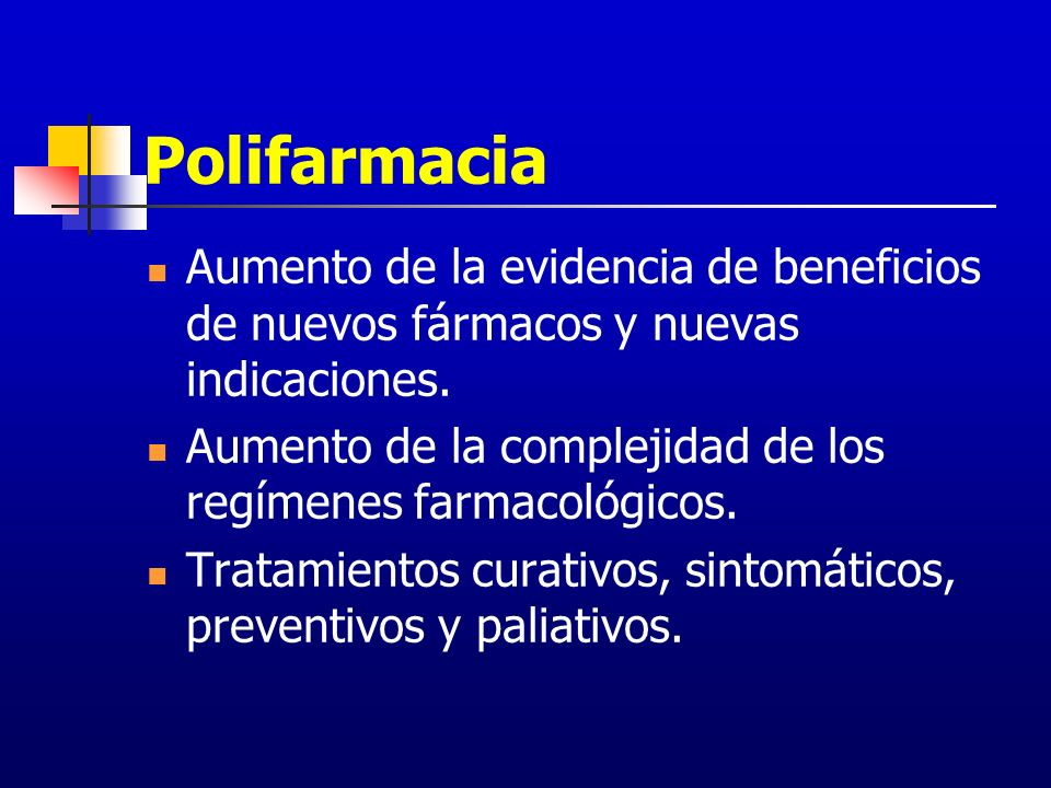 Polifarmacia.