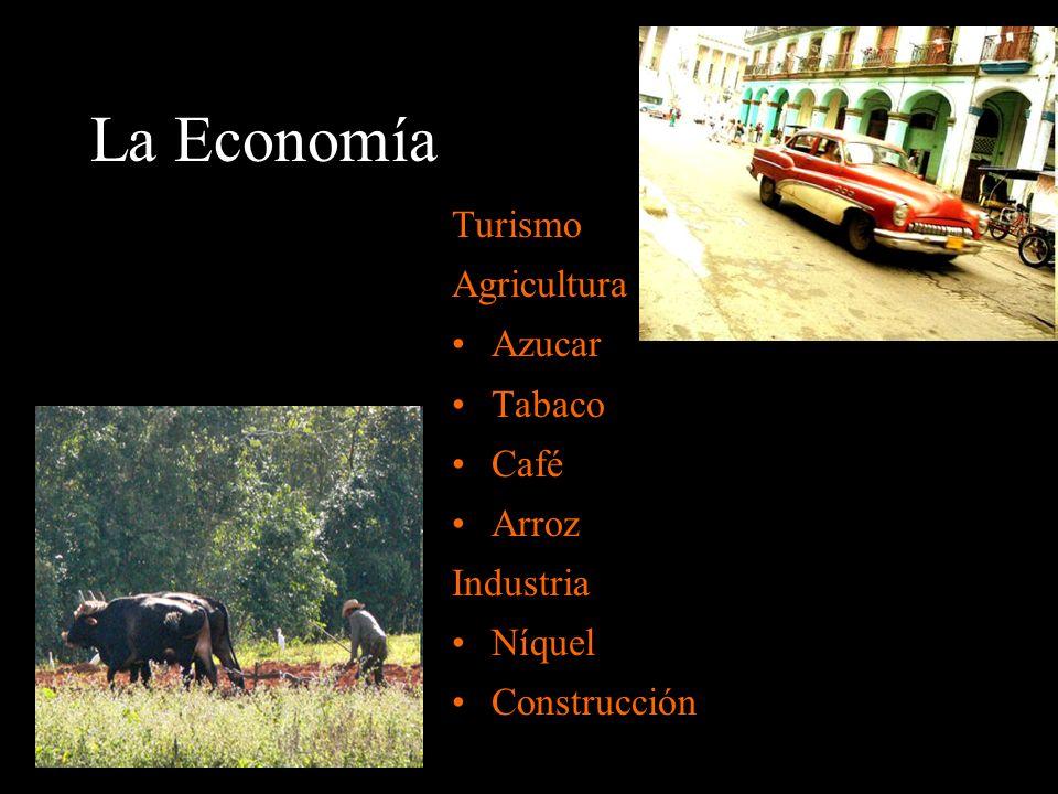 La Economía Turismo Agricultura Azucar Tabaco Café Arroz Industria Níquel Construcción