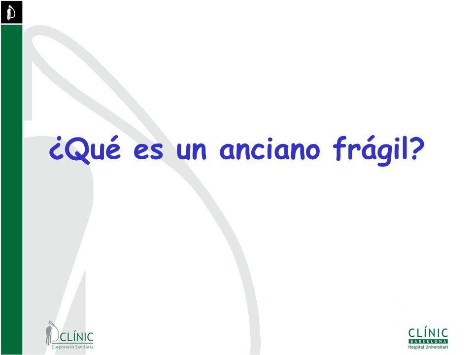 ¿Qué es un anciano frágil?