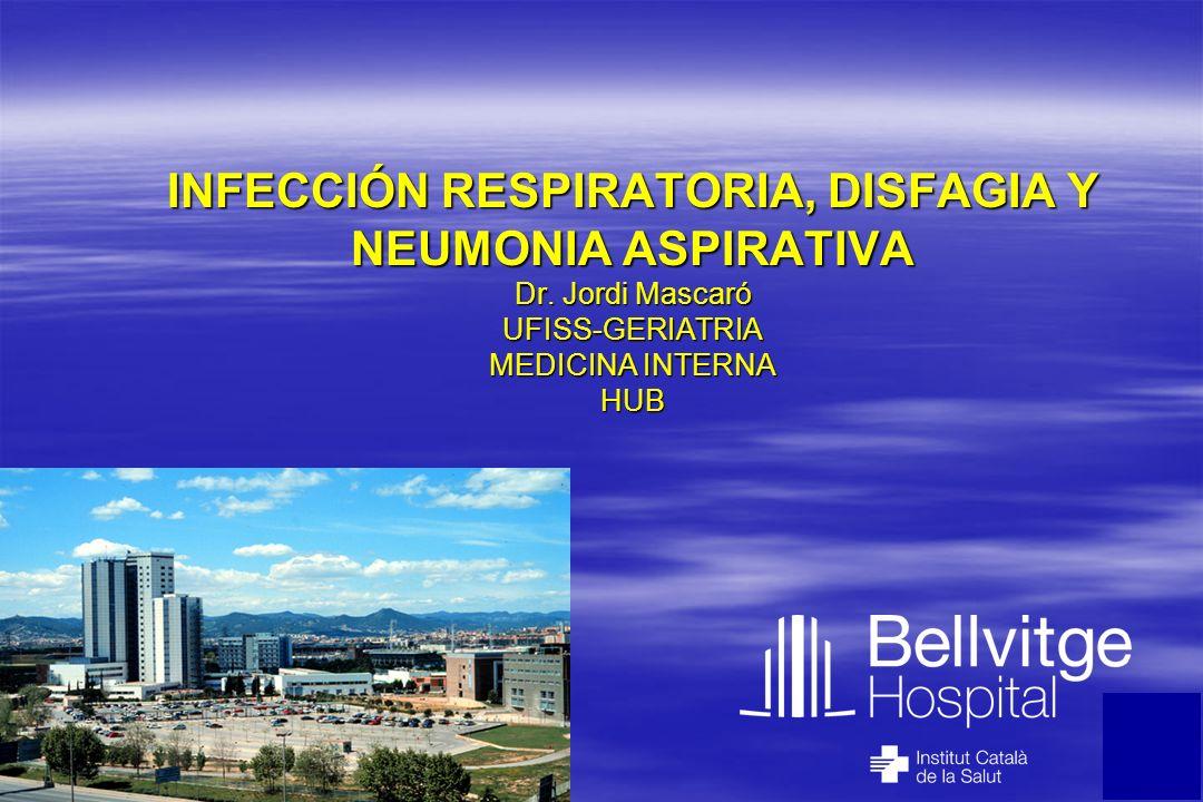 INFECCIÓN RESPIRATORIA, DISFAGIA Y NEUMONIA ASPIRATIVA Dr. Jordi Mascaró UFISS-GERIATRIA MEDICINA INTERNA HUB