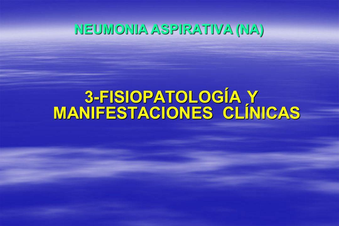 NEUMONIA ASPIRATIVA (NA) 3-FISIOPATOLOGÍA Y MANIFESTACIONES CLÍNICAS