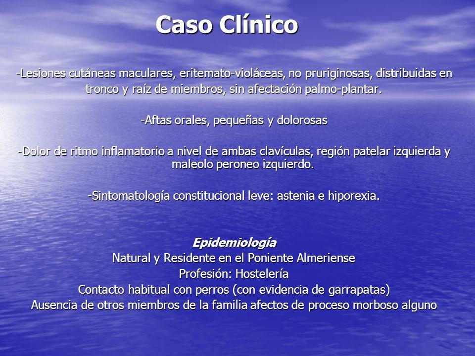 Caso Clínico Varón de 31 años de edad Antec. Personales: Fumador activo (1 paquete /día * 10 años). Intolerancia Hidrocarbonada. Enfermedad Actual: Cu