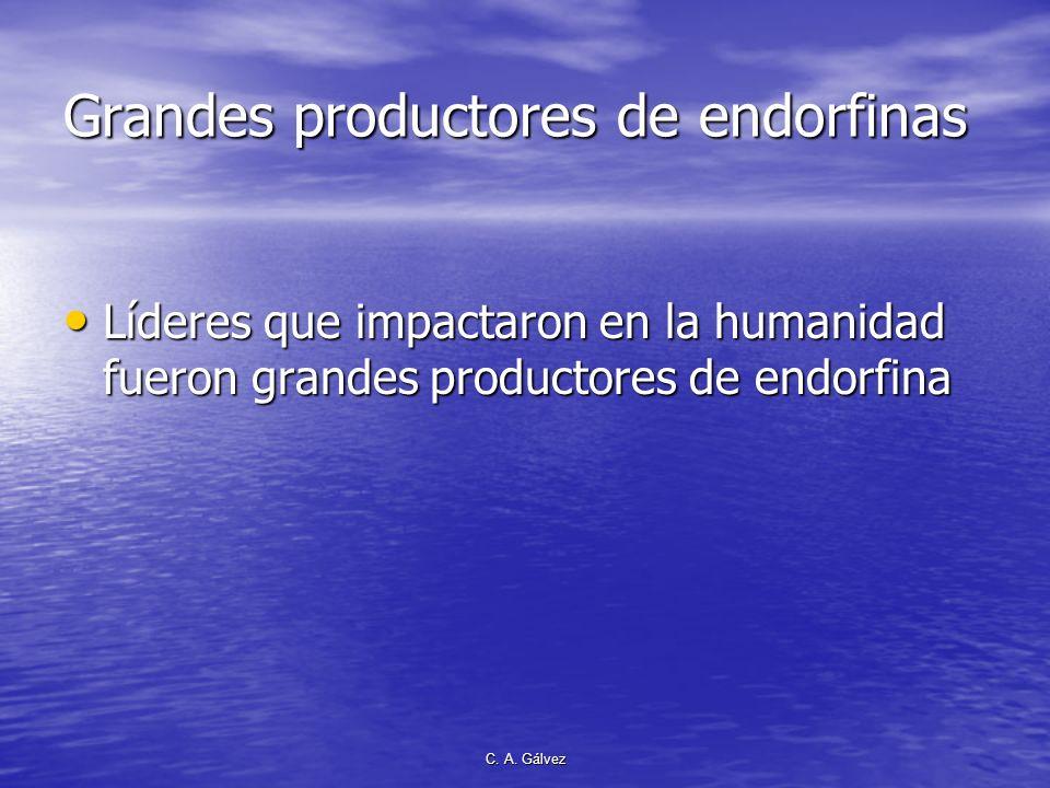 C. A. Gálvez La ENDORFINA Producida únicamente por el cerebro humano. Producida únicamente por el cerebro humano. Elementos importante de los opiáceos