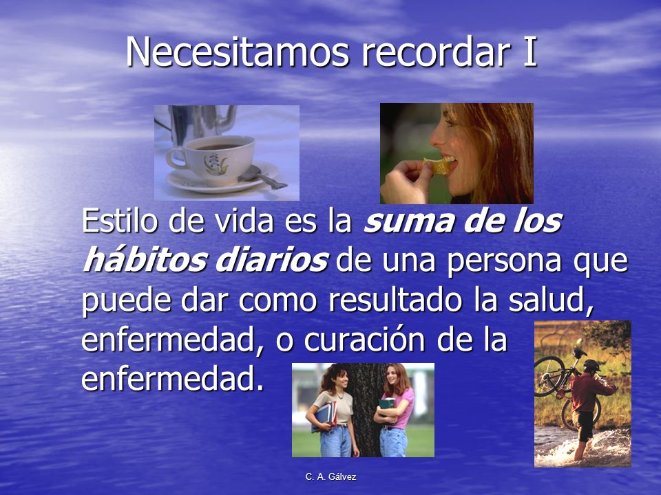 C. A. Gálvez Elena de White en El Ministerio de Curación, p. 89 Los Ocho remedios naturales Aire Agua Sol Ejercicio Reposo Alimento adecuado Temperanc