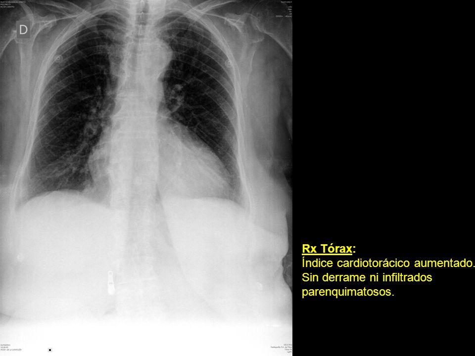 Rx Abdomen: Luminograma inespecífico.Presencia de gas distal.