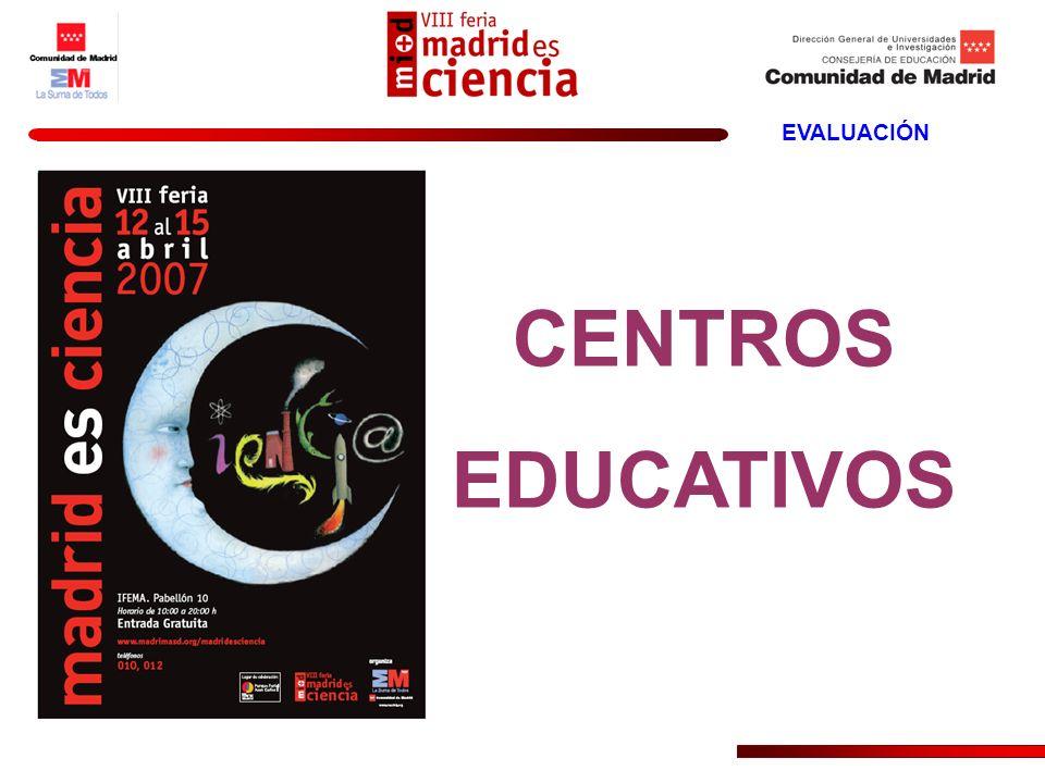 CENTROS EDUCATIVOS EVALUACIÓN