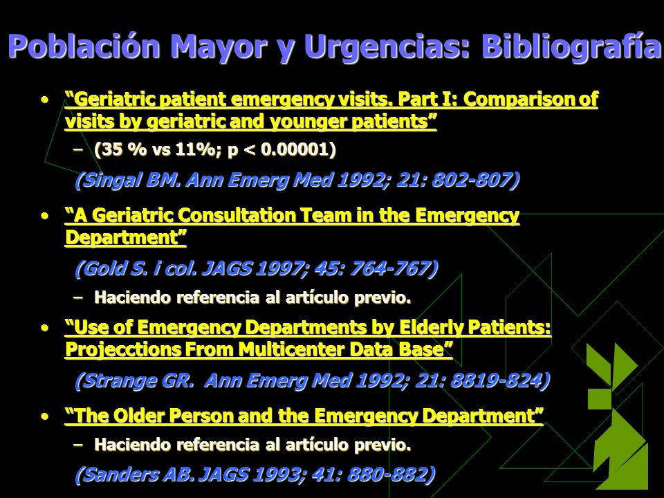 Geriatric patient emergency visits. Part I: Comparison of visits by geriatric and younger patientsGeriatric patient emergency visits. Part I: Comparis