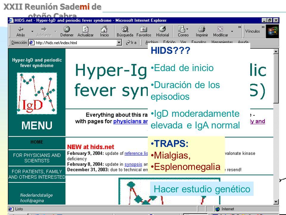 Saltar a la primera página XXII Reunión Sademi de otoño Cabra 7-8/10/2005 Madrid Nimega Barcelona Ronda Dr Gª-Díaz Dra Simmon Dra. Español Dr. Arosteg