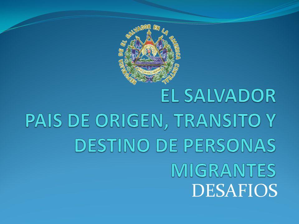 El Salvador es un país cuyo desarrollo se ve impactado por la dinámica de la migración.