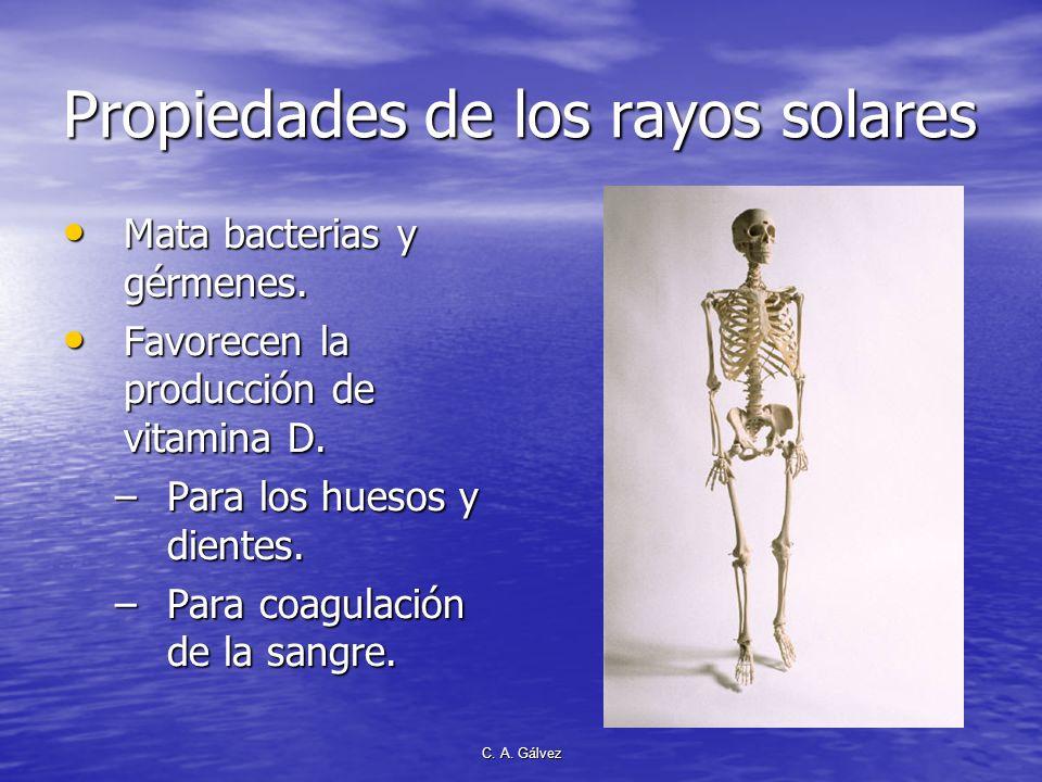 C. A. Gálvez Propiedades preventivas DONDE ENTRA EL SOL NO ENTRA EL DOCTOR