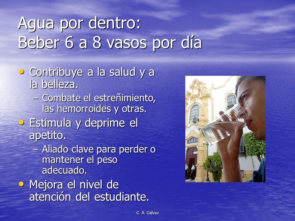 C. A. Gálvez Importancia de la higiene El baño diario purifica la piel tonifica el organismo y energiza nuestra mente. El baño diario purifica la piel