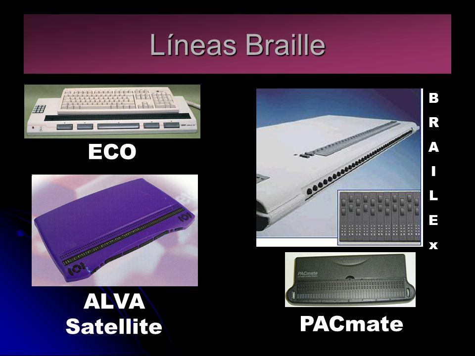 Líneas Braille ALVA Satellite ECO BRAILExBRAILEx PACmate