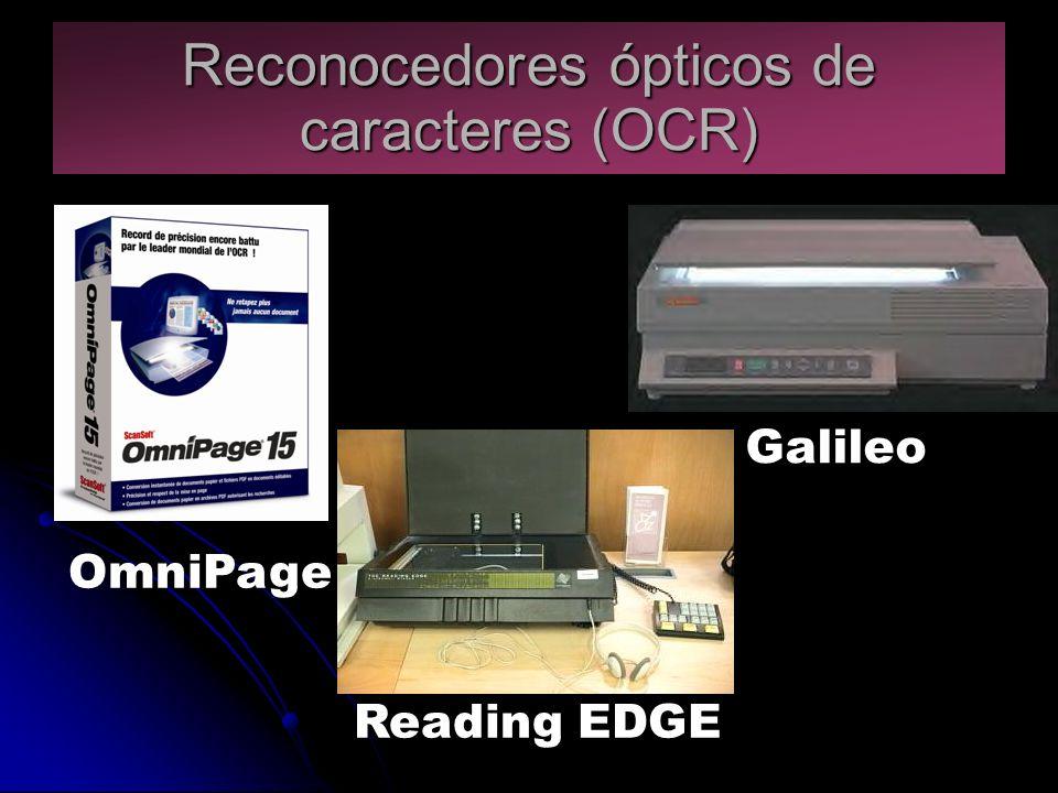 Reconocedores ópticos de caracteres (OCR) OmniPage Reading EDGE Galileo