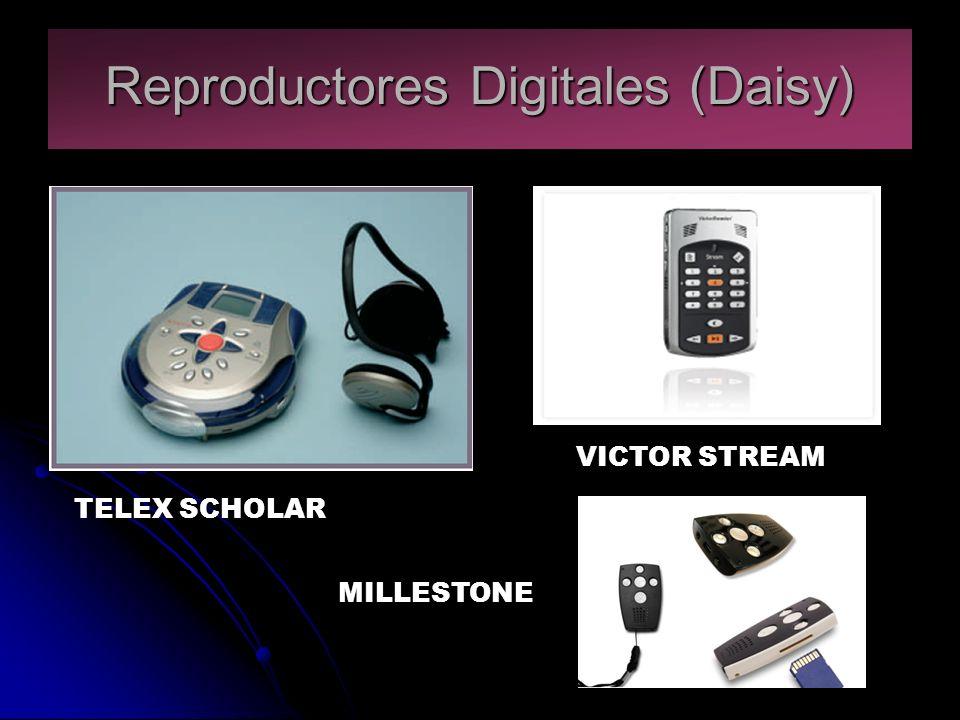 Reproductores Digitales (Daisy) TELEX SCHOLAR VICTOR STREAM MILLESTONE