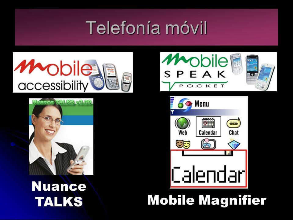 Telefonía móvil Nuance TALKS Mobile Magnifier