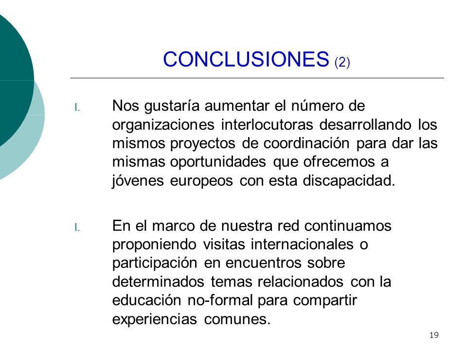 19 CONCLUSIONES (2) I.