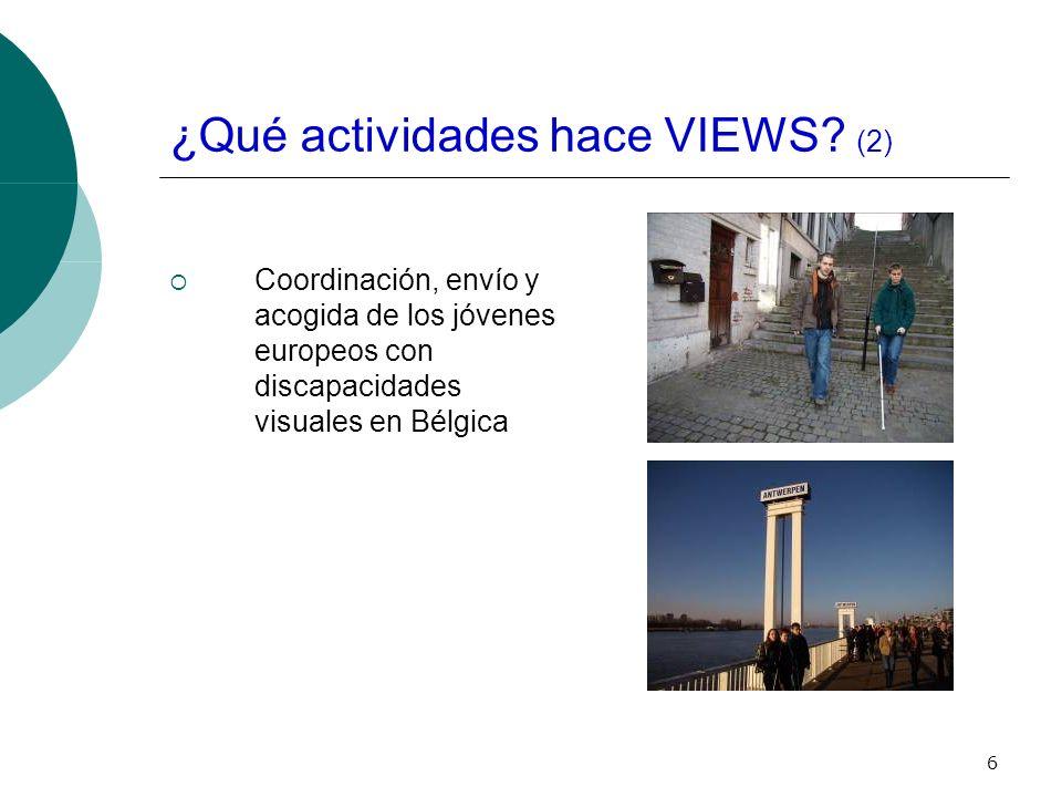 6 ¿Qué actividades hace VIEWS.