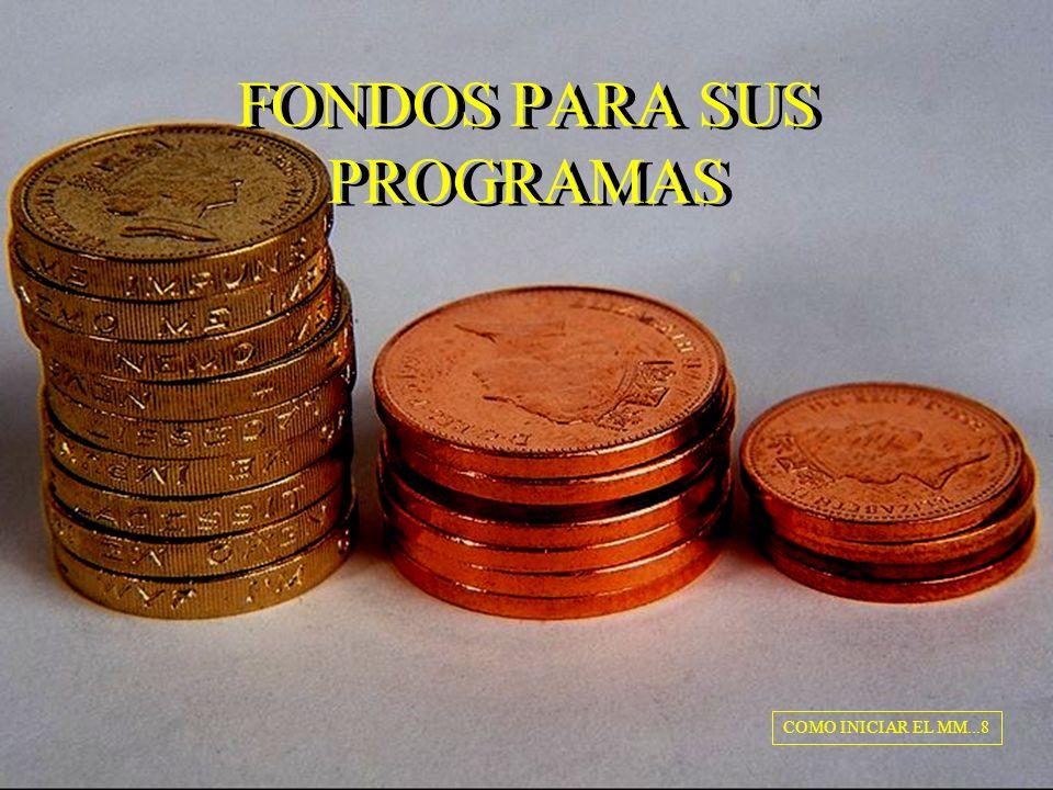 FONDOS PARA SUS PROGRAMAS COMO INICIAR EL MM...8