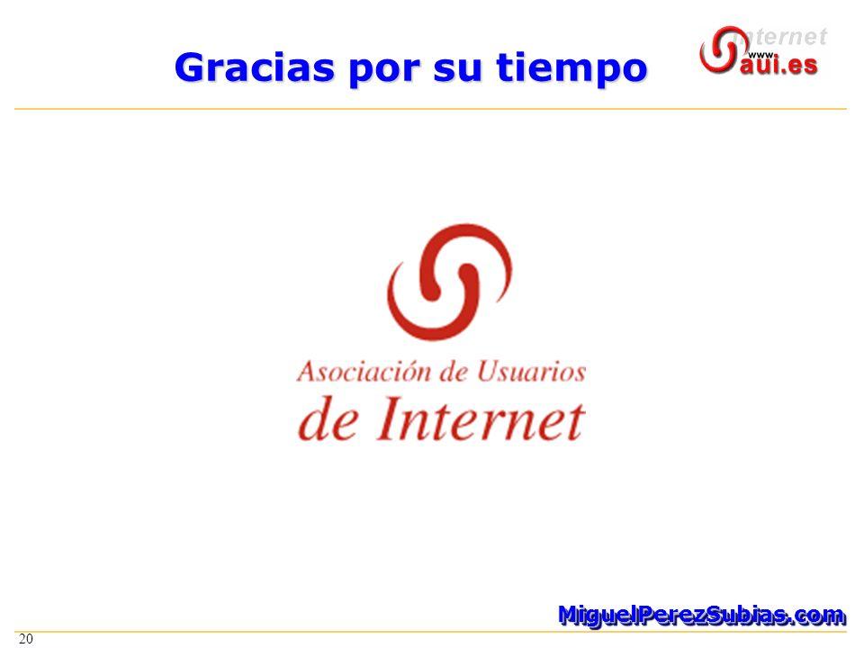 20 MiguelPerezSubias.comMiguelPerezSubias.com Gracias por su tiempo