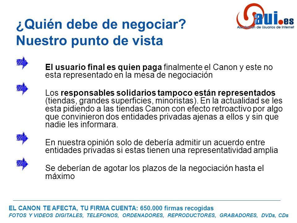 EL CANON TE AFECTA, TU FIRMA CUENTA: 650.000 firmas recogidas FOTOS Y VIDEOS DIGITALES, TELEFONOS, ORDENADORES, REPRODUCTORES, GRABADORES, DVDs, CDs ¿